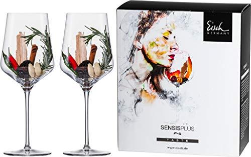EISCH Bordeaux Rotwein Gläser SKY, in SENSISPLUS-Qualität für ein beeindruckendes Aroma-Erlebnis – Set aus 2 Kristallgläsern 620ml, bruchsicher & spülmaschinenfest – Made in Germany