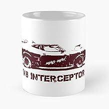 Seeyo Mad Road MAX Gibson Warrior Interceptor Motor Mel V8 Car La Mejor Taza de café de cerámica Blanca de 11 oz