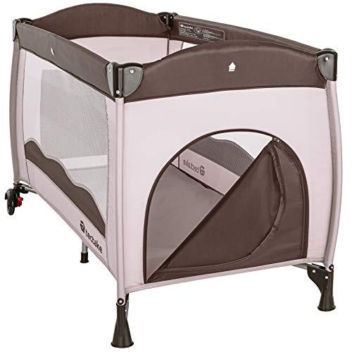 TecTake Kinderreisebett mit Schlafunterlage und praktischer Transporttasche – diverse Farben – (Coffee | Nr. 402417) - 4