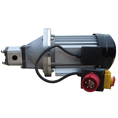 Generador hidráulico LSA5500-400 V, motor eléctrico 3,5 kW con bomba hidráulica de engranaje, para cortar leña
