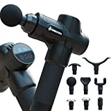 Muscle Massage Gun for Athletes - Deep Tissue Percussion Massager - Portable Handheld Electric Massager for Body Muscles, Back, Neck - New Model - 8 Massage Heads 20 Speeds Power Motor (Black)
