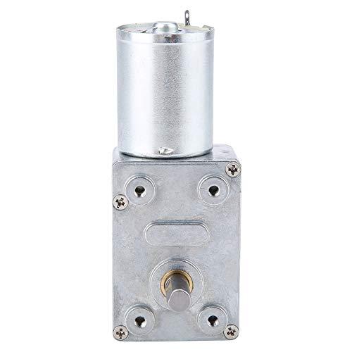 oueaen Motor con Engranaje de Engranaje de Metal de 12 V CC, turbina de Alto par de torsión, Motor de reducción con Engranaje helicoidal Turbo 2-100 RPM