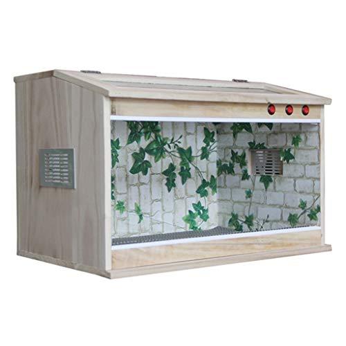 Utility Houten Vivarium Draagbare Doos, Voeding Display Box Tank- Chameleon Hagedis Tortoise Doos Reizen Transport Doos Kat Hond Huisdier Huis, 60 * 40 * 40CM