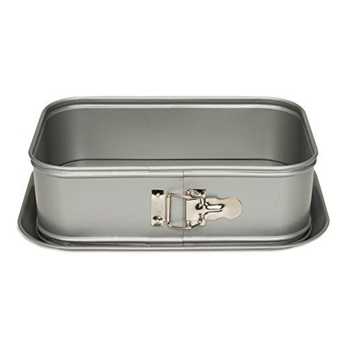 Patisse Silver-top Deep Moule à charnière rectangulaire 28 x 18 cm, EN ACIER, Multi Couleur, 28 x 18 x 10 cm
