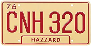 ASVP Shop Dukes of Hazzard - CNH 320-1969 Dodge Charger - General Lee - Metal Stamped Plate - Replica Prop - License Plate - Movie Prop