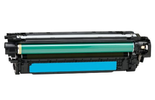 Eurotone Tonerkartusche Cyan kompatibler für HP Color Laserjet CP3525 CM3530 - CP 3525 cm 3530 – Alternative ersetzt HP 504A & CE251A