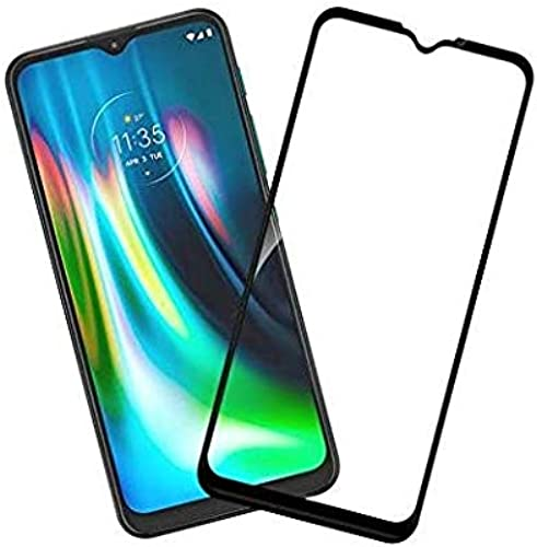 BK Jain Accessories 11D Black Tempered Glass For Moto G9 Glued Edge To Edge Moto G9 Temper Glass Moto G9 Screen Guard Moto G9 Tempered Glass One Tempered Glass