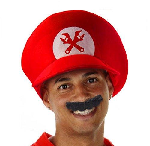 Folat Super Plombier Chapeau et Moustache (Taille Unique)
