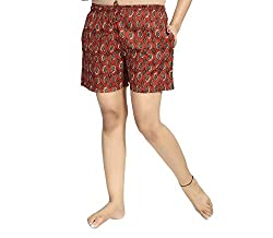 PDPM Womens Knitted Cotton Shorts/Night Shorts