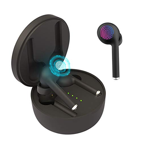 Auriculares Bluetooth 5.0, TWS Auriculares Bluetooth Inalámbricos, Auriculares Bluetooth In Ear Deportivos Impermeable, Sonido Estéreo Auriculares para iPhone Android Tablet