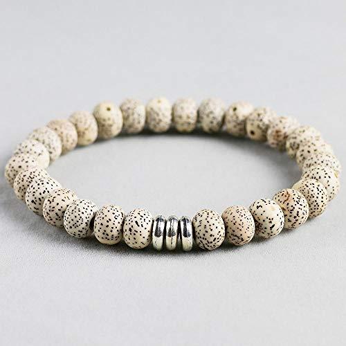 MU-PPX Handgemachte Bodhi Samen Mala Perlen Armband Armband Für Männer Yoga, 21Cm