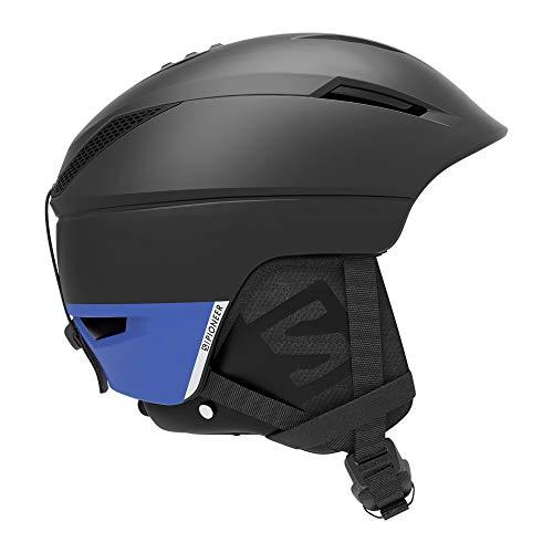 Salomon Pioneer C Casco de esquí y Snowboard para Hombre, Custom Air, Interior de Espuma EPS 4D, Circunferencia: 59-62 cm, Negro/Azul (Black/Race Blue), XL (62-64 cm)