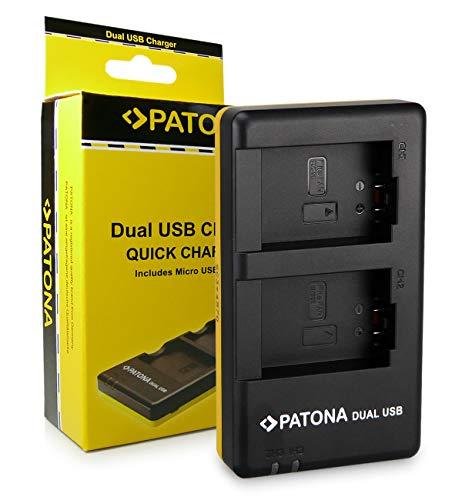 PATONA Cargador Doble para DMW-BMB9, DMW-BMB9E, BP-DC9E Bateria Compatible con Panasonic Lumix DMC-FZ100, DMC-FZ150, DMC-FZ40, DMC-FZ45, DMC-FZ48