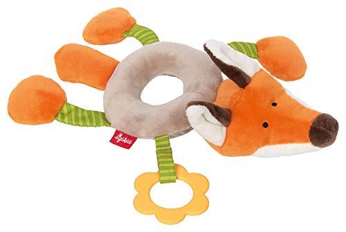 sigikid, Mädchen und Jungen, Ringgreifling Fuchs, Babyspielzeug, empfohlen ab 3 Monaten, grau/orange, 42421