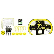Kickmaster Ultimate Football Challenge Gift Set with Games Manual & Quick Up Goal And Target Shot