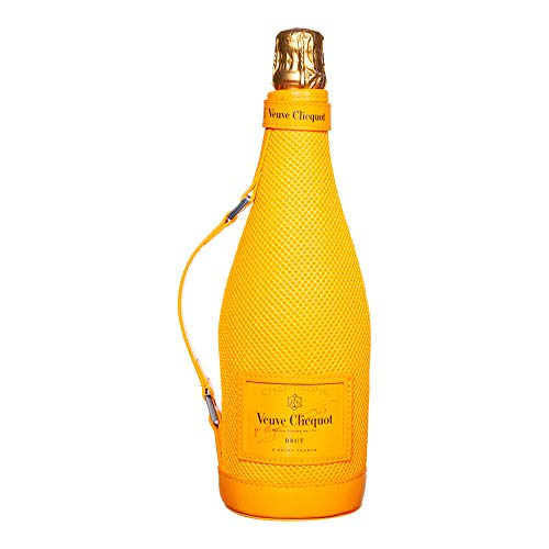 Veuve Clicquot Brut Champagner 0,75l Ice Jacket 12{40509025db9842a3a7b7d0bacc56a2626ebe7b9d44505773717462f8ab5e2f0f} Vol Kühltasche mit Griff