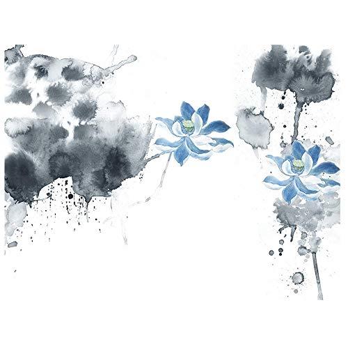 Fototapete Benutzerdefinierte 3D-Tapete HD chinesische Tinte Malerei Pflanze Lotus Wandvlies Vliesstoff Dekoration Schlafzimmer Wohnzimmer Hintergrund Wandkunst