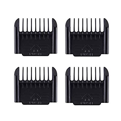 Fltaheroo 4pcs Professional Cut Clipper Limit Comb Guide Attachment Cutting Guide Comb Barber Replacement, Black(1mm,1mm,2mm,3mm)