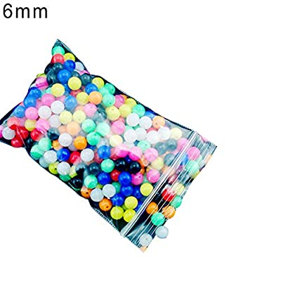 pushfocourag Fishing Accessory,100Pcs 6mm/8mm Round Multicolor Rig Beads Sea Fishing Lure Float Tackles- from pushfocourag