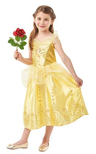 La Bella y La Bestia - Disfraz de Bella Deluxe para niña, infantil 7-8 años (Rubie's 640710-L)