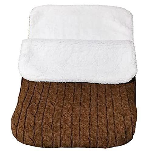 MH-RING Saco de Dormir Bebe, Saco de Dormir Ligero Sin Productos Químicos Ultraligero para Uso en Interiores y Exteriores (Color : Brown)