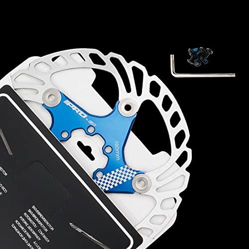 Disco de Freno de Disco de Bicicleta, 140/160/180/203mm Bicicleta de montaña Flotante Disco de Freno Centro de Bloqueo Accesorios de Bicicleta, Unisex, Estándar,Blue,203MM