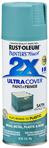Rust-Oleum 316292 Painter's Touch 2X Ultra Cover, 12 Oz, Satin Vintage Teal