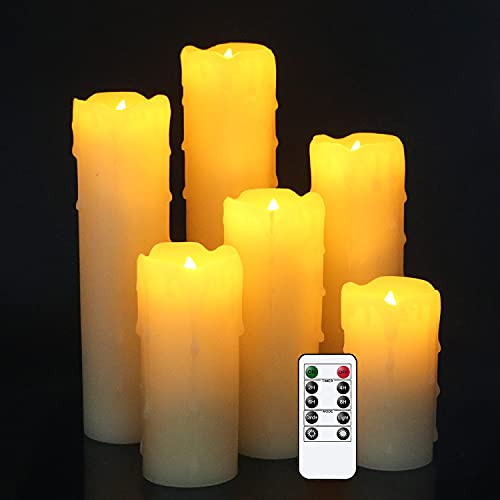 Eldnacele Battery Operated LED Candles with Remote and Timer, Flameless...