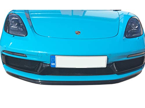 Zunsport Compatible with Porsche 718 Boxster/Cayman GTS - Front Grill Set - Black Finish (2018 -)