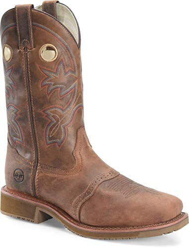 Double-H Boots - Mens - 11 Inch Wide Square Toe Roper Light Brown