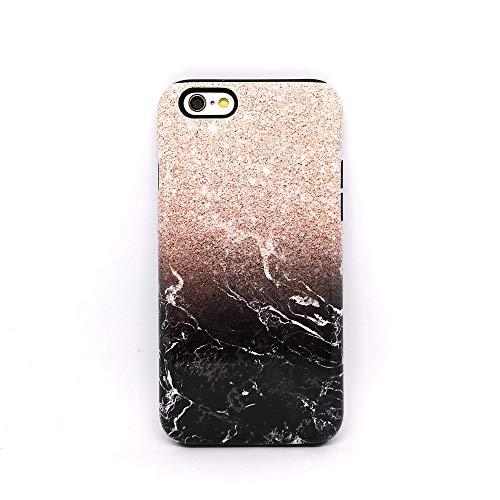 Marmo Nero Glitter cover case custodia per iPhone 5, 5s, SE 2016, 6, 6s, 7, 7 plus, 8, 8 plus, X, XS, 11, per Galaxy S6, S7, S8