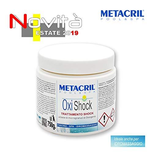 Metacril Oxígeno Shock de microgránulos - OXI Shock 750 g. - Ideal para Piscina o hidromasaje (Teuco, Jacuzzi, Dimhora, Intex,Bestway,ECC). Envío inmediato.