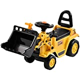 Sararoom Kids Ride on Bulldozer, Outdoor and Indoor Ride on Vehicle with Front Loader and Storage, Toddler Pretend Tractor Construction Truck