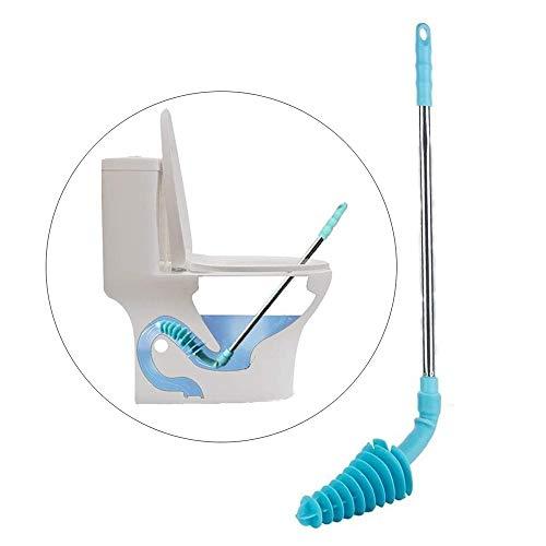 MAOX Émbolo del tocador, de la rastra limpiado de tuberías émbolos WC ecológico Tirador de Acero Inoxidable, Apto for Siphonic Sanitarios
