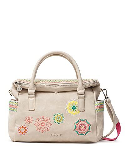 Desigual PU Hand Bag, Mano Mujer, marrón claro, U
