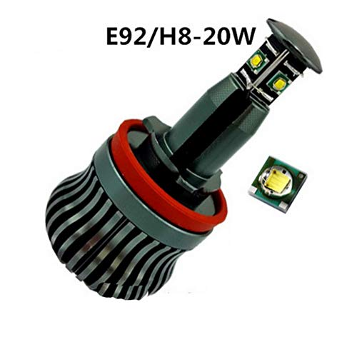 ZHUHAI HONGKANG DONGMAO TRADING CO LTD 2 Pcs 20W H8 Voiture LED Angel Eyes Light pour B/MW E60 E61 E63 E64 E70 X5 E71 X6 E82 E87 E89 Z4 E90 E91 E92 E93