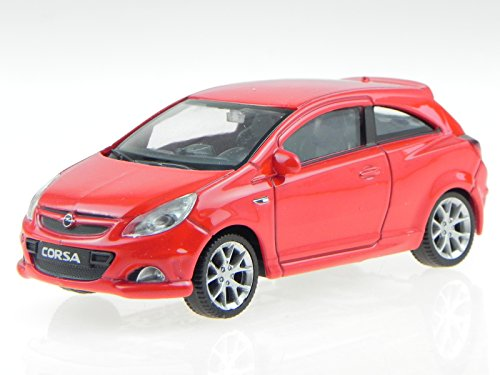 Opel Corsa D OPC rot Modellauto Welly 1:43