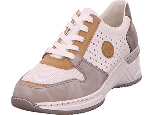 Rieker Damen N4308 Sneaker, Grau Kombi,36 EU