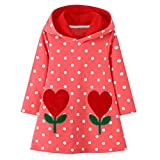 Hoodies Dress Girls Kids Long Sleeve Sweatshirt Pullover Hoody Dress Cotton Causal Sweater