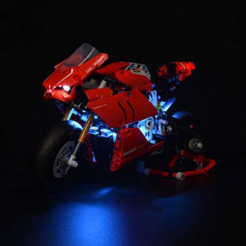 PEXL Beleuchtung Licht Set für LEGO Ducati Panigale V4 R, LED Beleuchtungsset Kompatibel mit Lego Technic 42107 (Ohne Lego Set)