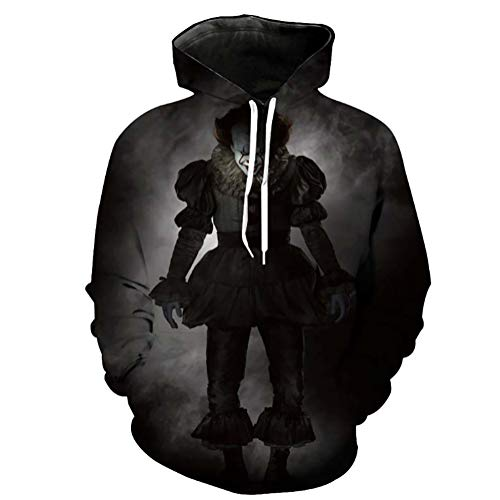 Zaima Unisex Men's Outdoor Hoodies 3D Halloween Print Pullover Long Sleeve Jumpers Sweatshirt Hooded Sweater Couple