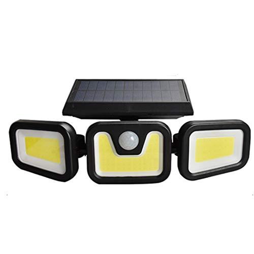 YZQ Solar Lights Outdoor, Wireless LED Solar Motion Sensor Lights Outdoor, 3 Adjustable Heads, 270° Wide Angle Illumination, IP65 Waterproof, Security LED Flood Light