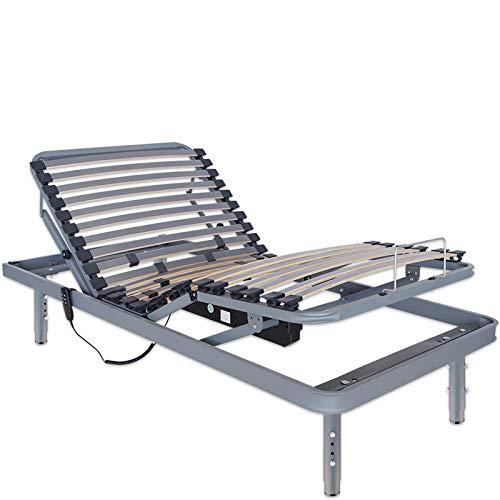 Ventadecolchones - Cama Articulada Super Reforzada Adaptator con Motor eléctrico y Patas Regulables en Altura y Mando inalámbrico Medida 105 x 190 cm