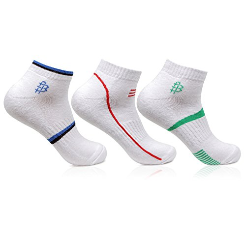 Bonjour Mens Cotton White Secret Length 3 Pairs Sports Socks_BRO7002S-PO3_Multicolor_Free size