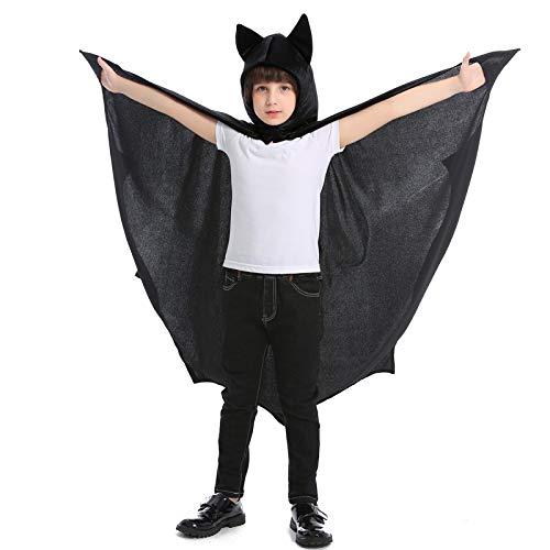 Avsvcb Cosplay Navidad nio Animal Juego Halloween Novedad Regalo Capa de murcilago Capa Negra Disfraz de Vampiro