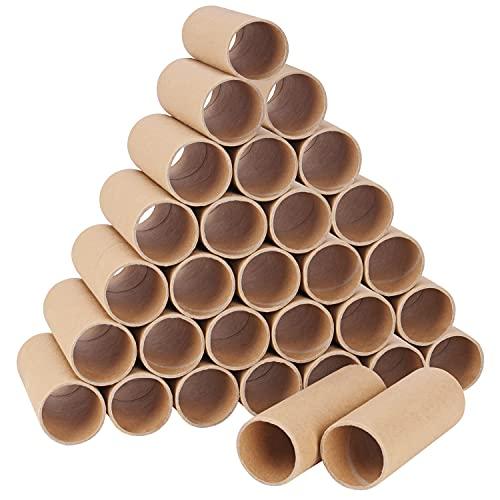 Handi Stitch Braune Papprollen zum Basteln (30er Pack) L10,4 x D4 cm - Runde Bastel Papprollen - Kreative DIY Bastelrollen Papprohr Rolle für Handgemachte Bastelarbeiten, Kinder-Kunst & Projekte