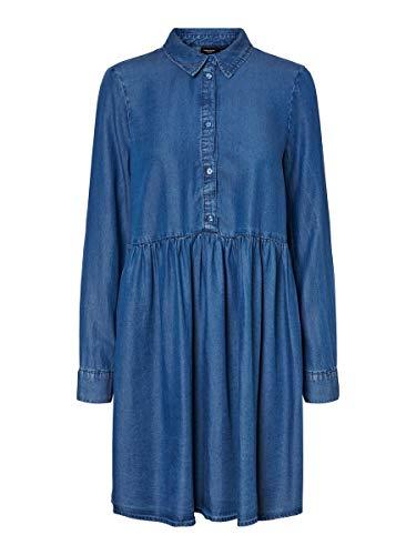 VERO MODA Damen Minikleid Denim XLMedium Blue Denim