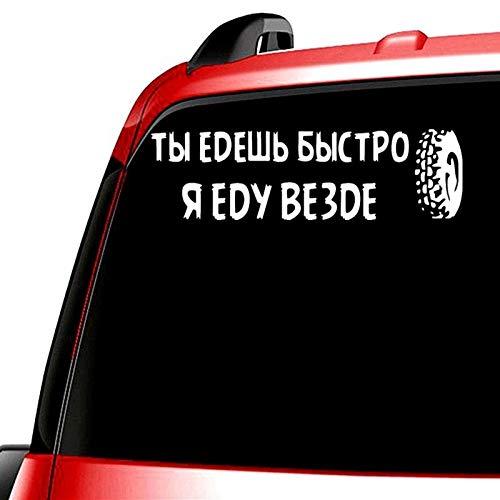 Wangna Pegatinas para coche con texto en inglés 'You can travel quick', pero puedo conducir 10 x 41,3 cm en cualquier lugar (nombre de farbname: 874 plata)