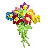 Hangnuo Plüsch-Gänseblümchen mit Lachgesichtern, biegbar, als Raffhalter, Zimmerdekoration, Geschenk zum Geburtstag, Hochzeit