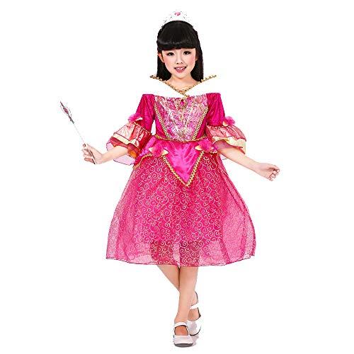 Girls Princess Dress Kostuum, Carnaval Party elegante jurk Tutu Dress Up Party Kostuums Pageant Prom baljurk,150